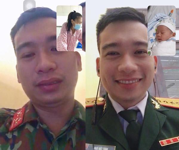 Chiến sĩ bộ đội rơi nước mắt khi gọi điện với vợ sắp sinh