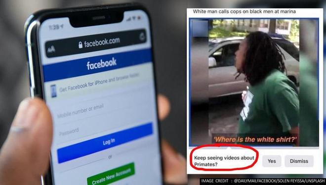 Facebook nhầm người da màu là loài linh trưởng