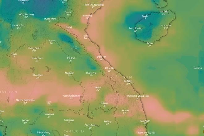 Biển Đông sắp có áp thấp nhiệt đới, miền Trung mưa lớn dồn dập