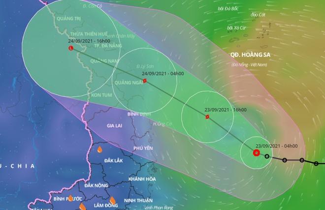 Áp thấp nhiệt đới hướng vào Hà Tĩnh - Bình Định