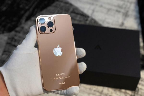 iPhone 13 Pro Max được mạ vàng có giá 130 triệu đồng tại Việt Nam