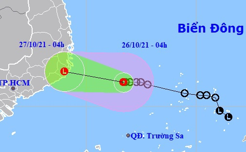 Áp thấp nhiệt đới gần bờ, Nam Trung Bộ mưa lớn